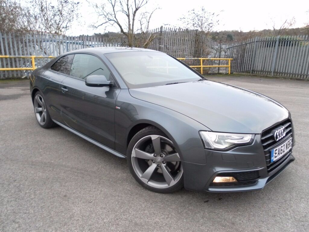 2012 audi a5 diesel s line black edition coupe low mileage f d s history drives like new in. Black Bedroom Furniture Sets. Home Design Ideas