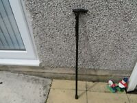 Walking Aid - adjustable stick in black