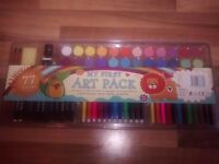 Kids paints and felts