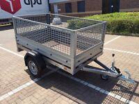 car box trailer brenderup 1205 s + mesh side