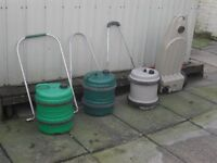 three aquarolls one waste master 1 camping washing mechine. and one gas cooker