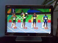 "HP w2207h 22"" HDMI Wide Screen flat panel LCD monitor"