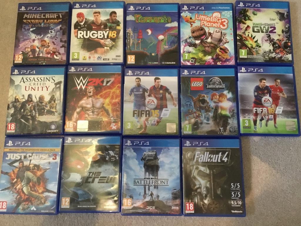 14 x PS4 Games for sale (incl Minecraft, Plants vs Zombies GW2, Terraria,  Lego Jurassic World) | in Thornbury, Bristol | Gumtree