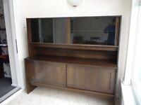 Dark wood Sideboard with Display Cabinet