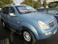 SSANGYONG REXTON 2696cc RX270 SE6 TURBO DIESEL 5 DOOR 4X4 2005-54, 119K FROM NEW,