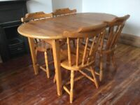 Solid Wood Dining Table & Chairs / Can Deliver