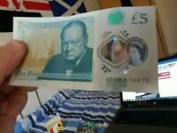 Ac five pound note