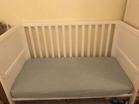 Mothercare 3 Piece White Nursery Furniture Set in Very Good Condition