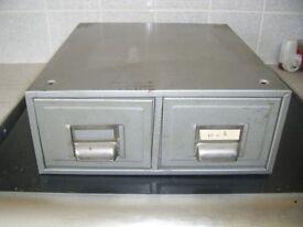 metal 2 draw desk top filling cabinet stackable