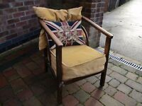 Vintage bent wood arm chair