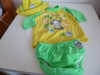 Boots mini mode swim and sun suit 18 – 24 months with hat