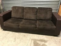 3 Seater Sofa (fabric & leather)