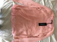 Pink split back jumper size 10