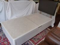 Single drawer divan base and/or headboard