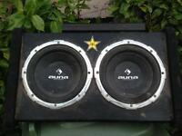Twin subwoofer with amp