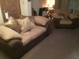 2 seater sofa and 2 chairs.
