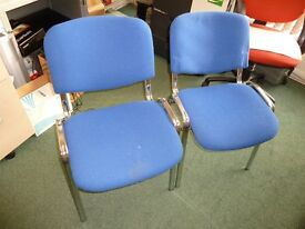 Office Chairs in Blue set of 6