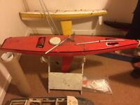 Racing Marblehead model boat