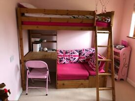 Stompa Childs Cabin Bed / Highsleeper with Mattress