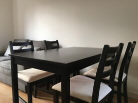 IKEA Lerhamn Dining Table & Bed Frame for Sale