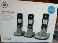 BT Advanced Z three Cordless phones and answering machine - NEW