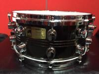 """Mapex Steel Black Panther 14"""" x 6.5"""" snare drum with new Evans Genera Dry skin"""
