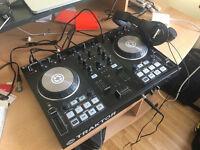 Traktor Kontrol S2 + Shure SRH240A Headphones AS NEW - DJ Mixer / Decks - Better than Numark etc