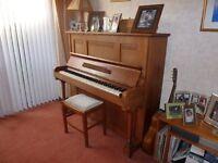 NEUFIELD UPRIGHT PIANO IN LIGHT OAK
