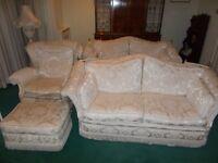 white 3 piece suite