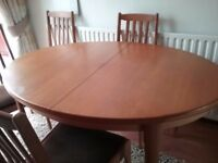 Dining Table & four chairs