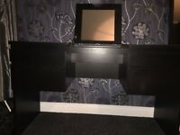 Black/brown dressing table