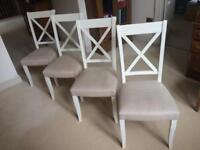 Set of 4 Hampstead X-Back Dining Chairs