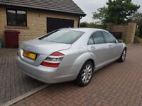 2007 - 57 Mercedes Benz S320 CDI, S Class, Auto, Diesel, Silver, Top class Luxury car, Automatic