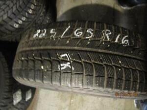 225/65R16 SINGLE ONLY USED MICHELIN X ICE WINTER TIRE