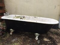 Roll Top Bath with Claw Feet - Antique Cast Iron