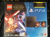 Brand new PS4 500GB ( C chassis) with LEGO Star Wars: The Force Awakens Game + Blu-Ray Movie.