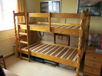 Solid Quality Pine Bunk Bed/Single beds
