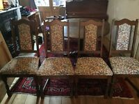 Old Charm Hudson Round Dining Table Light Oak and four chairs