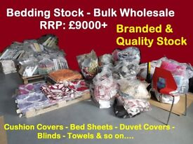 Business Bulk Stock for Sale Wholesale Bedding Cushion Curtains Shop - RRP £9000+