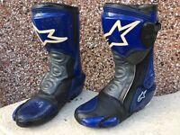 Alpinestars Motorcycle boots. Size 8 uk. Blue