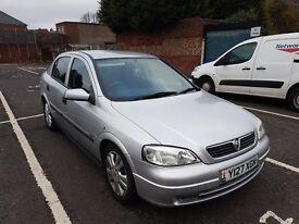 Vauxhall Astra 1.6 16v 2001, 12 months MOT