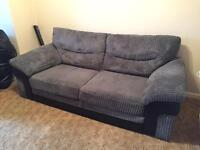 Dark grey sofa 1 year old