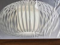 New in Box NEXT Aura Ribbon Pendant Lampshade Light shade easy fit GREY