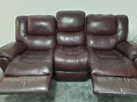 Faux Leather Sofa Suite : One 2 Seater & Two, 3 seater