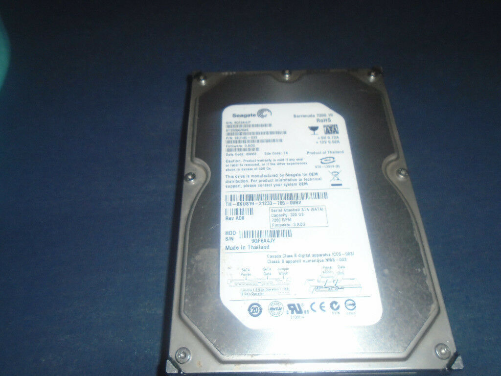 "320GB 3.5"" Seagate Barracuda ST3320620AS SATA2 7200rpm 16MB Internal Hard Drive, In Good Condition"