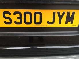 JAMES JIM PRIVATE PLATE CHERISHED PLATE S300 JYM ON RETENTION CERT