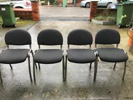 4 waiting room/office chairs