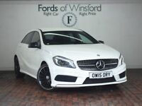 MERCEDES-BENZ A CLASS A200 CDI AMG NIGHT EDITION 5DR AUTO (white) 2015