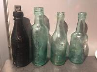 Bundle Of 4 Antique Newcastle Bottles