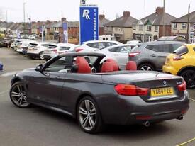 BMW 4 SERIES 435i M SPORT 2dr AUTO CONVERTIBLE (300) ** Pro Nav + Air Collar * 19s ** (grey) 2015